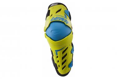 Leatt Dual Axis knee-shin guards lime blue