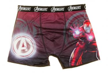 Boxer noir/violet Homme Marvel Avengers Ironman