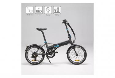 Vélo Pliant Électrique Btwin TILT 500 ELECT Shimano Tourney 6V 250 Noir 2020