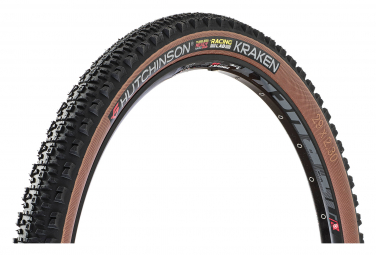 Pneu VTT Hutchinson Kraken Racing Lab 29'' Tubeless Ready Souple Hardskin Race Ripost XC Flancs Beiges Tan