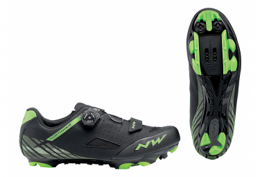 Par De Zapatos Northwave Origin Plus Negro   Verde 40