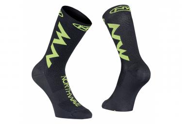 Northwave Extreme Air Socks Black Neon Lime
