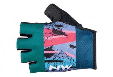 Paar kurze Handschuhe Northwave Active Blue