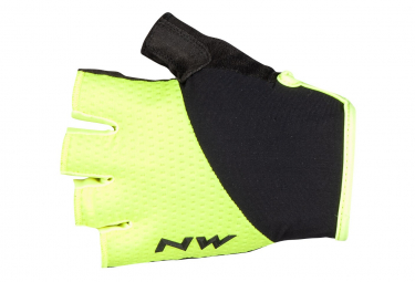Par De Guantes Cortos Northwave Fast Yellow   Black Xl