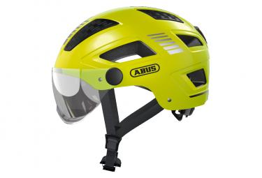 Casco Abus Hyban 2 0 Ace Velvet Yellow Con Visera Transparente M  52 58 Cm