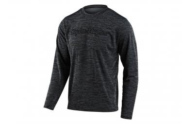 Troy Lee Designs Flowline Signature Long Sleeve Jersey Black Gray Kids