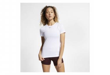 Maillot Manches Courtes Nike Pro Blanc Femme