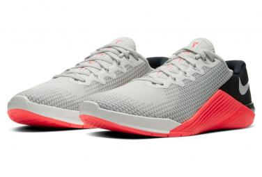 Chaussures de Cross Training Nike Metcon 5 Gris / Rouge