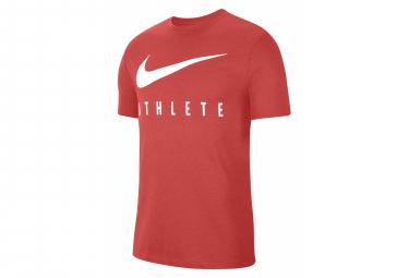 Camiseta De Manga Corta Nike Dri Fit Athlete Red   Hombre L