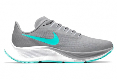 Chaussures de Running Femme Nike Air Zoom Pegasus 37 Gris / Bleu