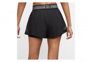 Short 2 en 1 Nike Pro Flex Training Noir Femme