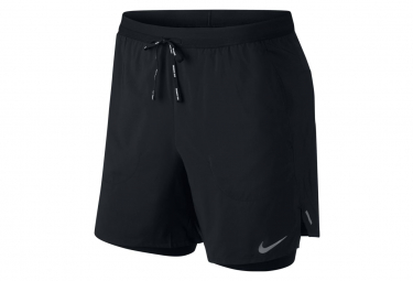 Pantalon Corto Nike Flex Stride 7   39 2 En 1 Negro L