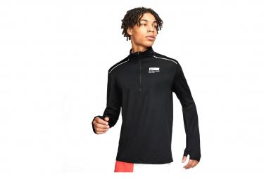 Nike Element BRS 1/2 Zip Long Sleeve Jersey Black Men