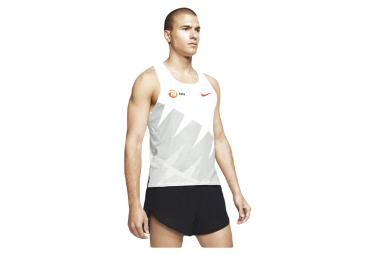 Camiseta sin mangas Nike Aeroswift NN blanco gris