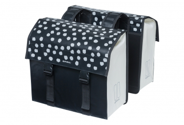 Basil Urban Load double bicycle bag 48-53 liter black with reflective dots