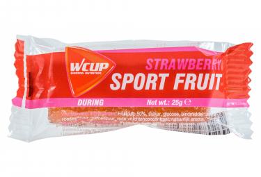Pâte de fruit énergétique WCUP Sport Fruit Fraise 25g