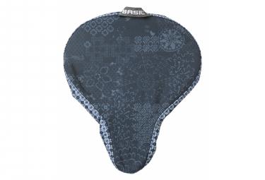 Basil Boheme saddle cover indigo blue