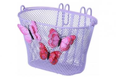 Basil Jasmin Butterfly Junior Cesta De Bicicleta Delantera O Trasera Lila