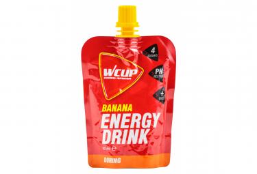6 wcup energy drink geles energeticos de platano 6 x 80ml