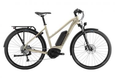 Elektrisches Citybike Cannondale Tesoro Neo Remixte Shimano Acera / Altus 9v Champagner