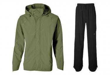 Basil Hoga bicycle rain suit Green