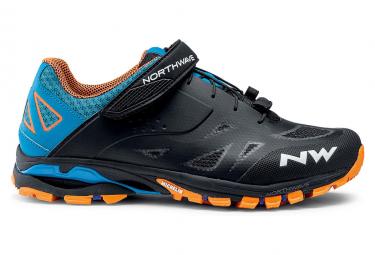 Chaussures VTT Northwave Spider 2 Bleu / Noir / Orange