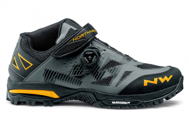 Northwave Enduro Mid Anthracite / Yellow MTB Shoes