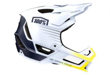 Int gral 100% Trajecta White / Navy Helmet
