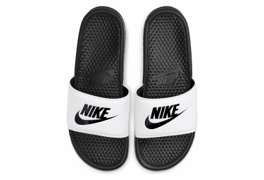 Claquettes Nike Benassi Just Do It Noir Blanc