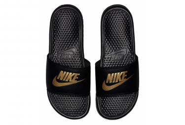 Claquettes Nike Benassi Just Do It Noir Or