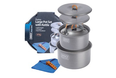 360° Degrees Furno Large Pot Set with Kettle 1.75 + 2.8L