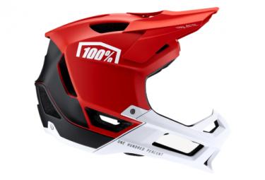 100% red Trajecta helmet