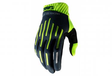 Lange Handschuhe 100% RIdeFit Gelb / Grau