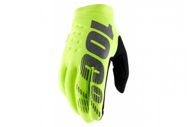 Lange Kinderhandschuhe 100% Brisker Neon Yellow