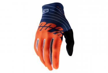 Long Gloves 100% Celium 2 Blue / Orange