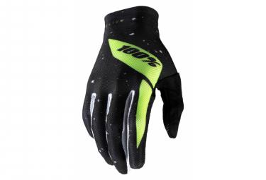 Long Gloves 100% Celium 2 Black / Neon Yellow