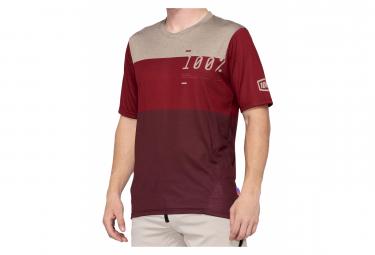 Jersey de manga corta rojo 100% Airmatic