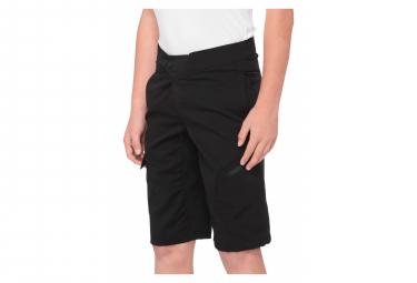 100% Ridecamp Kids Shorts Schwarz