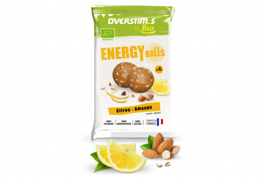 Energy Balls Bio Overstim's Citron - Amande 1 sachet de 6