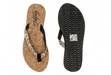 Tongs noir/liège femme Cool Shoe Sunday