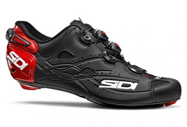 SIDI Shot Road Shoes Red Matt Black