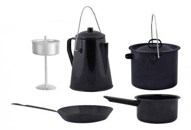 Image of Esschert design jeu d ustensiles de cuisine d exterieur quatre pieces noir