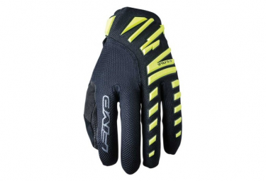 Paire de Gants Longs Five Enduro Air Jaune Fluo / Noir