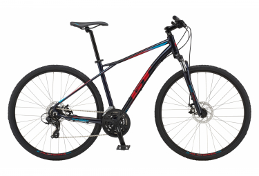 Bicicletta ibrida GT Transeo Comp Shimano Tourney 7S 700 mm Ink Blue Red 2019