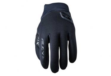 Pair of Long Five XR-Trail Gel Gloves Black