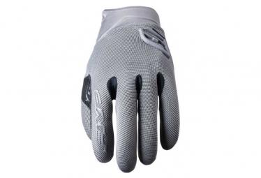 Pair of Long Five XR-Trail Gel Gloves Gray