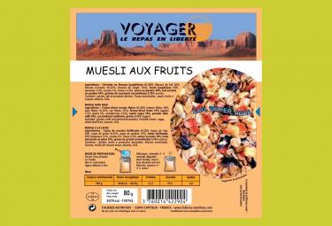 Petit Déjeuner Voyager Red fruits Muesli to rehydrate 80g