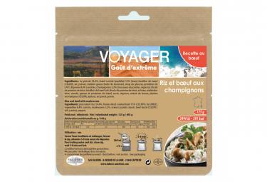 Repas Lyophilisé Voyager Boeuf aux champignons et son riz Kraft 125g