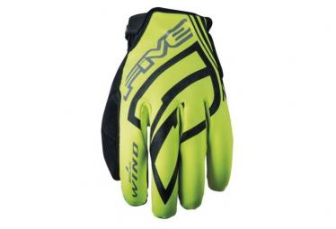 Par de guantes de invierno five windbreaker yellow xxl