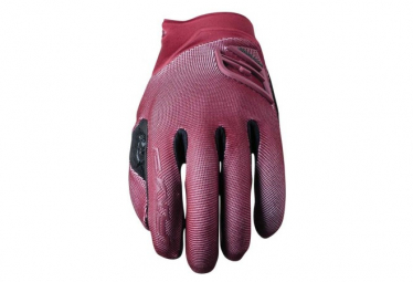 Paire de Gants Longs Femme Five XR-Trail Gel Rouge Bordeaux